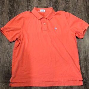 Southern Tide Peach Colored Polo Shirt XL